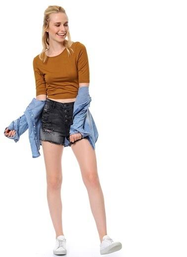 Uzun Kollu Bluz | Crop Top-Vero Moda